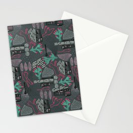 Escape from the city Stationery Cards