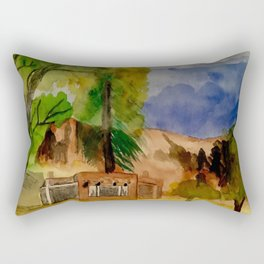 Ghost Ranch Landscape Rectangular Pillow