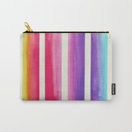 Colorful striped pattern in watercolor Carry-All Pouch
