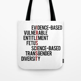 Donald Trump's seven banned words CDC: I RESIST 7 evidence-based vulnerable entitlement fetus Tote Bag