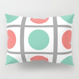 Minimal Abstract Lucite green, Coral, Grey, Honey, and White 03 Pillow Sham
