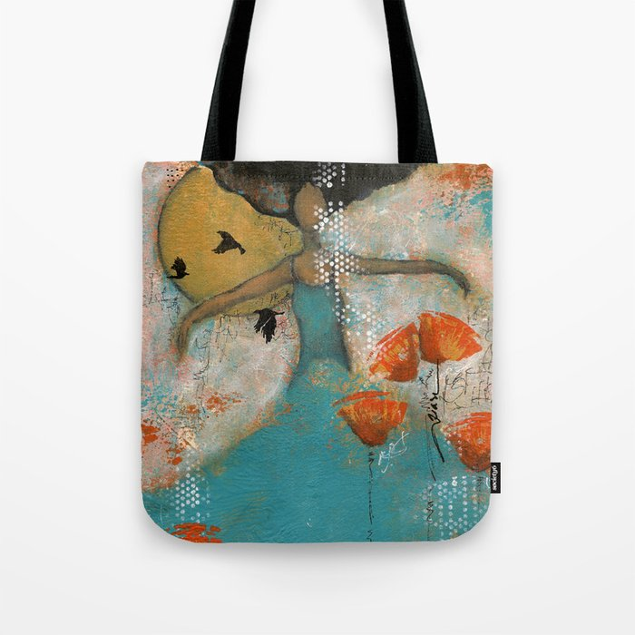 Floating. African American Art, Black Art, Women, Girls, Female Tote Bag
