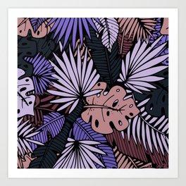 Night palm Art Print
