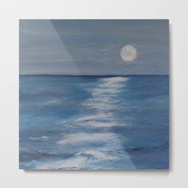 The Moon lighting up the Sea Metal Print
