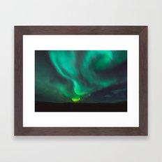 Northern Lights - Vik, Iceland Framed Art Print
