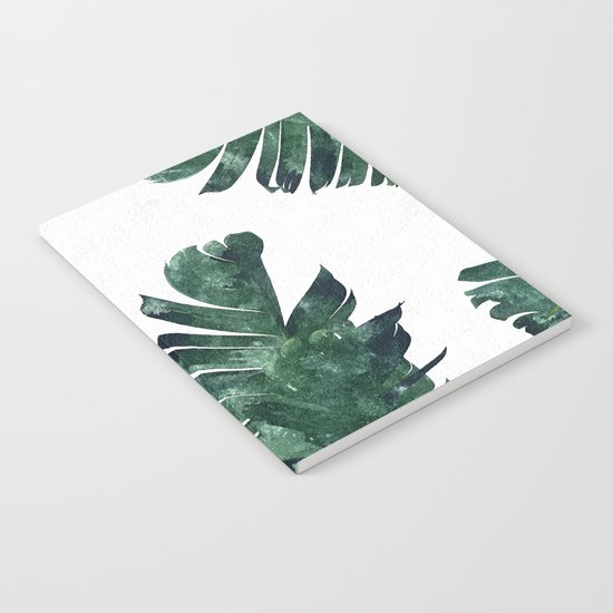 Banana Leaf Watercolor #society6 #buy #decor Notebook