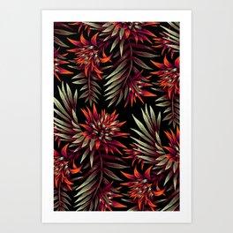 Aechmea Fasciata - Dark Orange / Purple Art Print