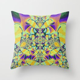 Sunset in Fractaland Throw Pillow