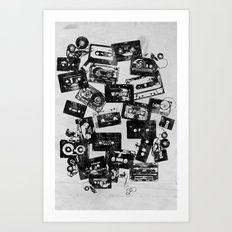 Cassettes Art Print