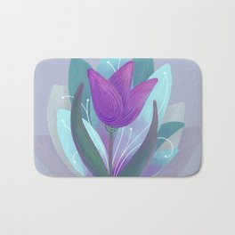 Tulip and Lotus Blossom Bath Mat