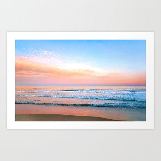 Pastel Ocean Art Print