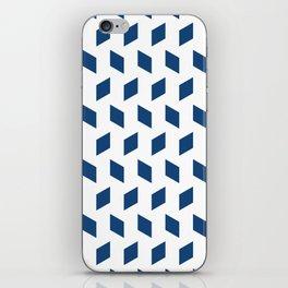 rhombus bomb in monaco blue iPhone Skin