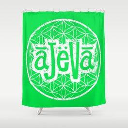 Ajeva Logo Green Shower Curtain