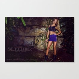 Slither in Silver Canvas Print