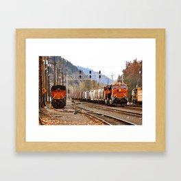 TRAIN YARD Framed Art Print
