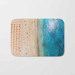 AERIAL. Summer beach Bath Mat