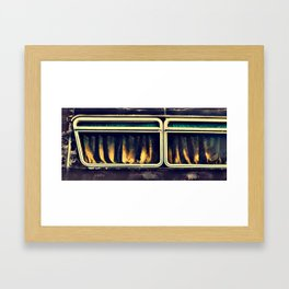 Bus Window Framed Art Print