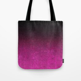 Pink & Black Glitter Gradient Tote Bag
