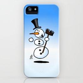 Dancing snowman iPhone Case