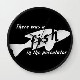 Fish in the Percolator Wall Clock