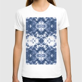 Shibori Tie Dye 4 Indigo Blue T-shirt