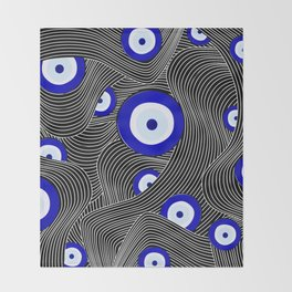 Swerve Evil Eye Throw Blanket