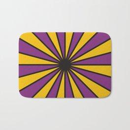 CVS0098 Purple and Poppy yellow rays Bath Mat