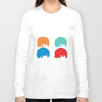 liverpool Long Sleeve T-shirts featuring Fab 4 of Liverpool by Alexandra Gambaro