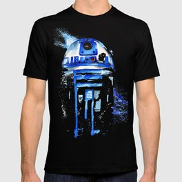 R2-D2 R2D2 droid watercolor Wars Scifi Star FAnart T-shirt