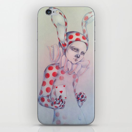 The card of hearts iPhone & iPod Skin