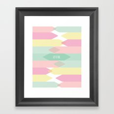 Let it be. Framed Art Print