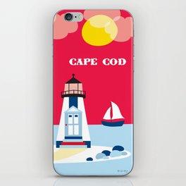 Cape Cod, Massachusetts - Skyline Illustration by Loose Petals iPhone Skin