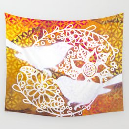 Twin Birds Wall Tapestry