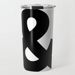Ampersand (Black & White) Travel Mug