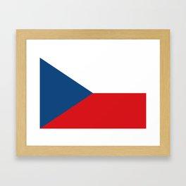 Flag of Czech Republic Framed Art Print