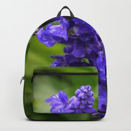Bumble Bee on Veronica Spike Speedwell Flower by Teresa Thompson Backpack