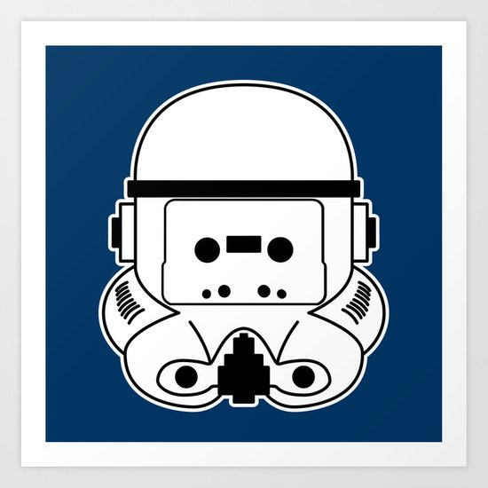 Cassette Trooper Art Print