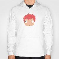 ponyo Hoodies featuring Ponyo likes you! by Mariotaro