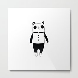 Little black and white panda Metal Print