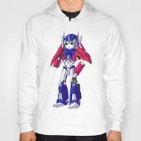 optimus prime Hoodies featuring Optimus Prime by Crow