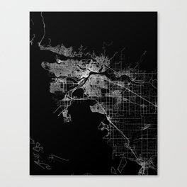 vancouver map canada Canvas Print