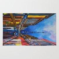 eiffel Area & Throw Rugs featuring Eiffel Tower Street by ArtSchool