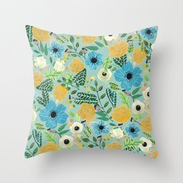Luova - blue Throw Pillow