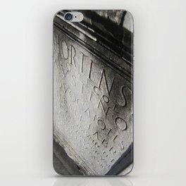 wisdom in stone. iPhone Skin