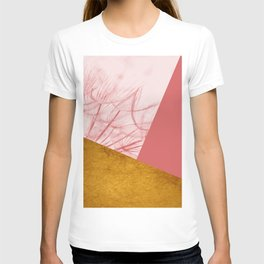 Dandelion Pink Gold Collage T-shirt