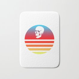 Classic Retro Design Skull #8 Bath Mat