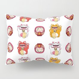 Colorful Maneki - neko pattern design Pillow Sham