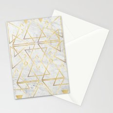 wire gOld triangle Stationery Cards