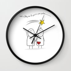 Jibsey & Jess. Catch A Falling Star Wall Clock