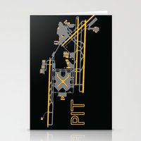 steelers Stationery Cards featuring Pittsburgh (PIT) - Team Colors by Kyle Rodgers